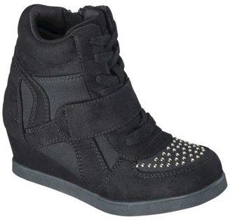 Girl's Cherokee® Harmony Sneaker Wedge Shoes - Black
