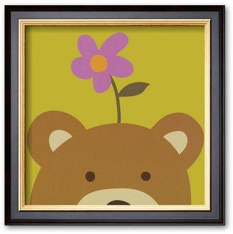 "Art.com Peek-a-Boo VI, Bear"" Framed Art Print By Yuko Lau"