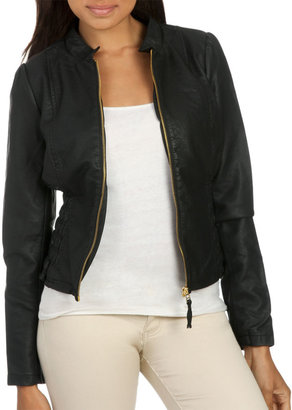 Arden B Ruched Side Moto Jacket