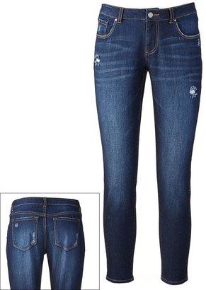 Apt. 9 curvy fit distressed skinny jeans - women's
