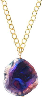 Susan Hanover Blue Agate Pendant Necklace