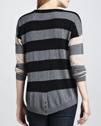 C&C California Two-Tone Striped Sweater