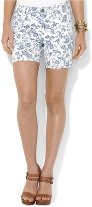 Lauren Ralph Lauren Shorts, Denim Floral-Print
