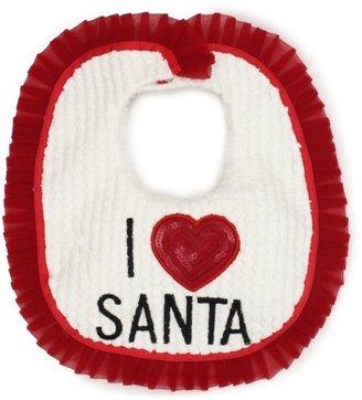 Mud Pie Baby-Girls Newborn I Love Santa Bib