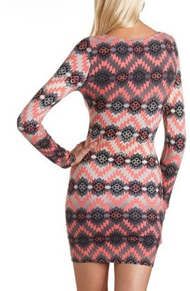 Charlotte Russe Printed Body-Con Dress