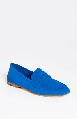 Ivanka Trump 'Sasha' Loafer (Nordstrom Exclusive) Womens Royal Blue Suede Size 10.5 M 10.5 M