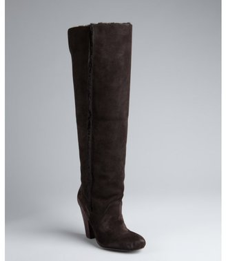 Madison Harding dark brown suede 'Hannah' tall boots