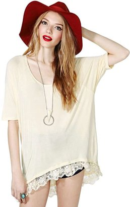 Nasty Gal Free Rider Lace Tee