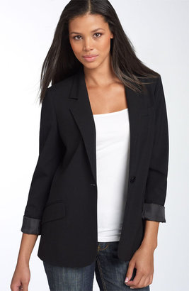 Kenneth Cole New York Single Button Boyfriend Blazer