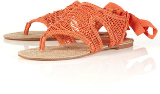 Topshop HAMPTON Rope Woven Sandal