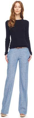 MICHAEL Michael Kors Wide-Leg Chambray Pants