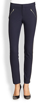 Rebecca Taylor Ava Skinny Tuxedo Pants