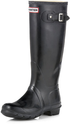 Hunter Tall Gloss Boot, Black