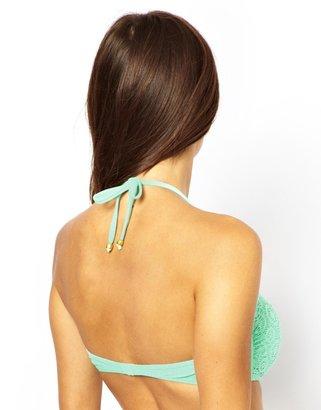 South Beach Lace Bandeau Bikini Top