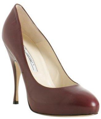 Brian Atwood burgundy leather 'Tonya' pumps