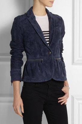 Burberry Suede peplum jacket