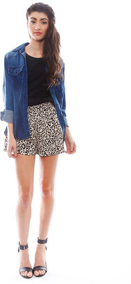 Naven Circle Shorts in Mocha Leopard