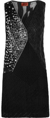 Missoni Paneled crochet-knit tunic