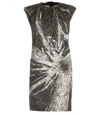 Miu Miu CREASED SHEATH DRESS WITH PRINT