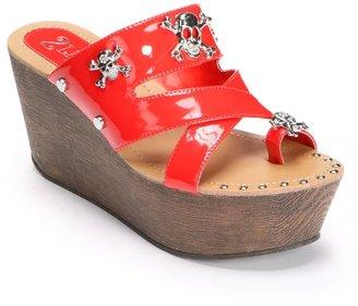 2 Lips Too Too Rum Platform Wedge Sandals - Women