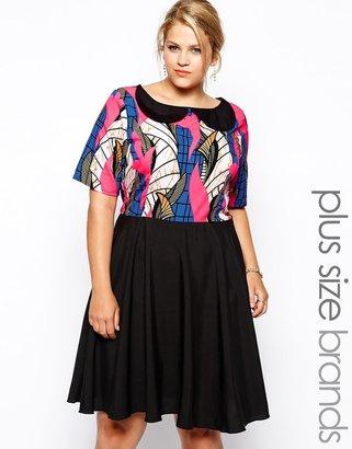 AX Paris Plus Size Printed Skater Dress