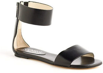 KORS Ava Leather Ankle Strap Sandals