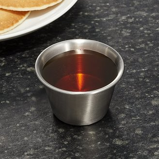 Crate & Barrel Stainless Steel Small Condiment-Prep Cup