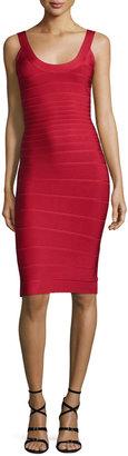 Herve Leger Scoop-Neck Bandage Dress, Lipstick