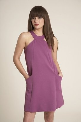 Corey Lynn Calter Zoe A Line Shift Dress With Pockets in Magenta $179 thestylecure.com