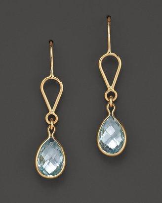 Bloomingdale's Blue Topaz Earrings Set In 14K Yellow Gold