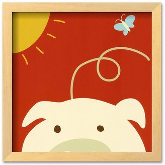 "Art.com Peek-a-Boo IV, Pig"" Framed Art Print by Yuko Lau"