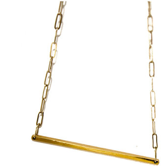 Loren Stewart Bar Necklace Yellow Gold