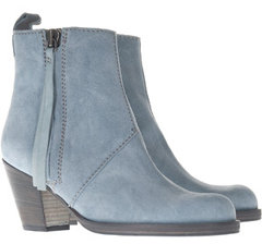Acne Pistol Boot in Pale Blue