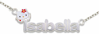 Hello Kitty FINE JEWELRY Personalized Girls Sterling Silver and Enamel Name Necklace