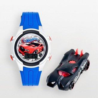 Hot Wheels silver tone digital watch - kids