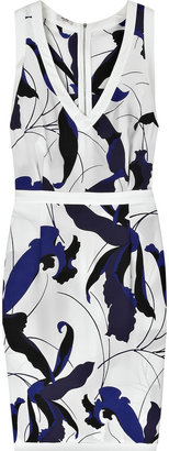 Miu Miu Silk-crepe iris-print dress
