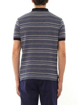 Moncler W Multi-weave polo shirt