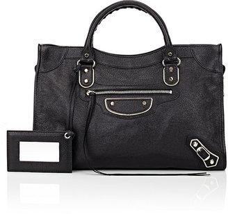 Balenciaga Women's Metallic Edge Classic City-BLACK $2,125 thestylecure.com