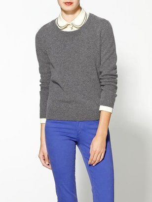 Maison Scotch Sweater With Zipper Collar