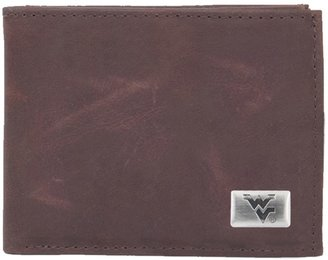West Virginia Mountaineers Leather Bifold Wallet