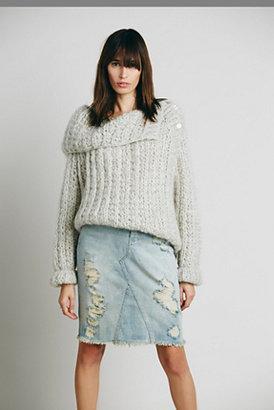 Free People Womens LA Lady Denim Skirt