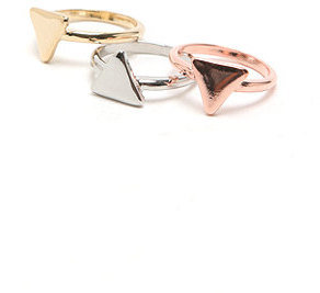 With Love From CA Triangle Ring Set