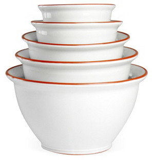 S/5 Assorted Terracotta Mixing Bowls