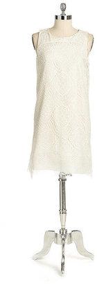 Nicole Miller Silk Crochet Lace Dress