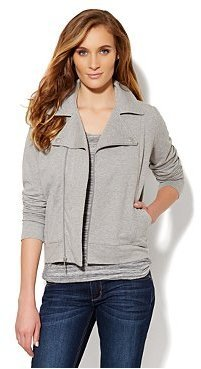 New York & Co. Love, NY&C Collection - Cotton-Blend Moto Jacket