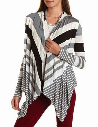 Charlotte Russe Striped Open-Front Cover-Up