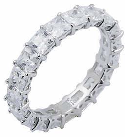 Diamonique 4.90 cttw Princess Cut Eternity Ring
