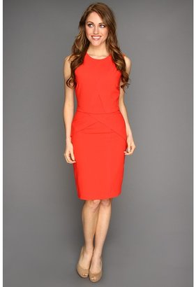BCBGMAXAZRIA Ida Sheath Dress (Bright Poppy) - Apparel