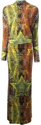 Philipp Plein star and leopard print dress