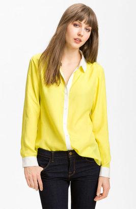 Trouvé Contrast Trim Silk Shirt